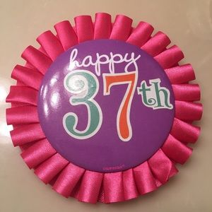 """Other - Free """"37th Bday pin"""""""